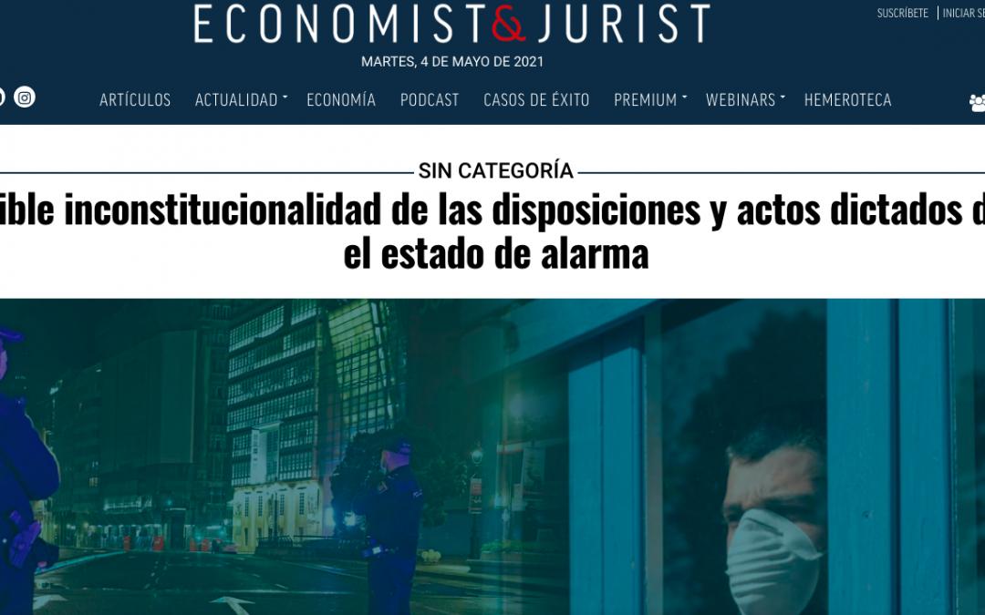La posible inconstitucionalidad de las disposiciones y actos dictados durante el estado de alarma