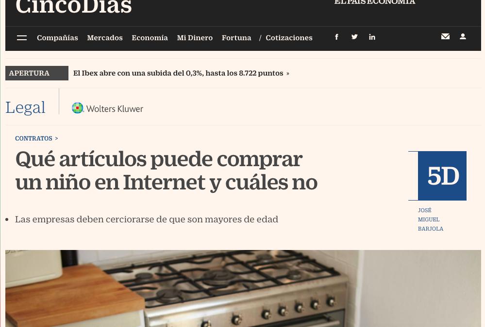 Qué artículos puede comprar un niño en Internet y cuáles no